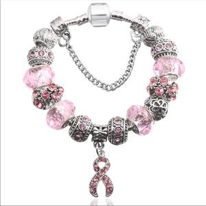 Jewelry - Brand New Pink Ribbon/Awareness Charm Bracelet